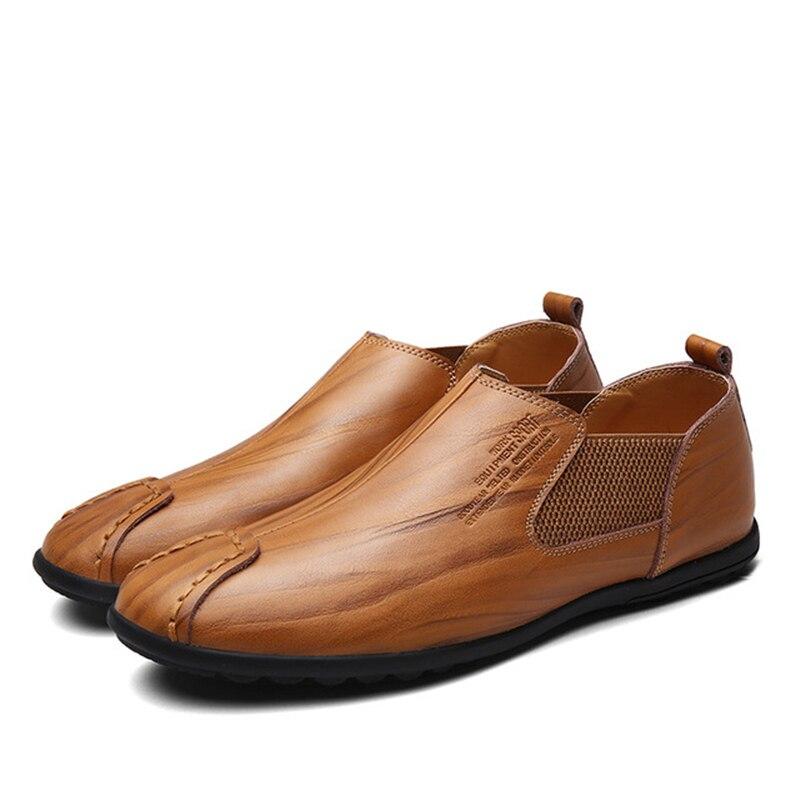 Mâle or De En Cuir on Automne Hommes Printemps Slip Conduite Souple Appartements Aa11551 Antidérapant Mocassins Chaussures Casual Marron D'affaires LSzVpqUMG