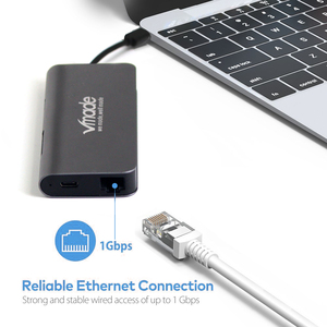 Image 5 - Vmade Mini Adapter Type C USB C 3.0 HUB to HDMI Thunderbolt 3 8 in 1 Adapter for MacBook Samsung Galaxy S9 Give Mini Converter