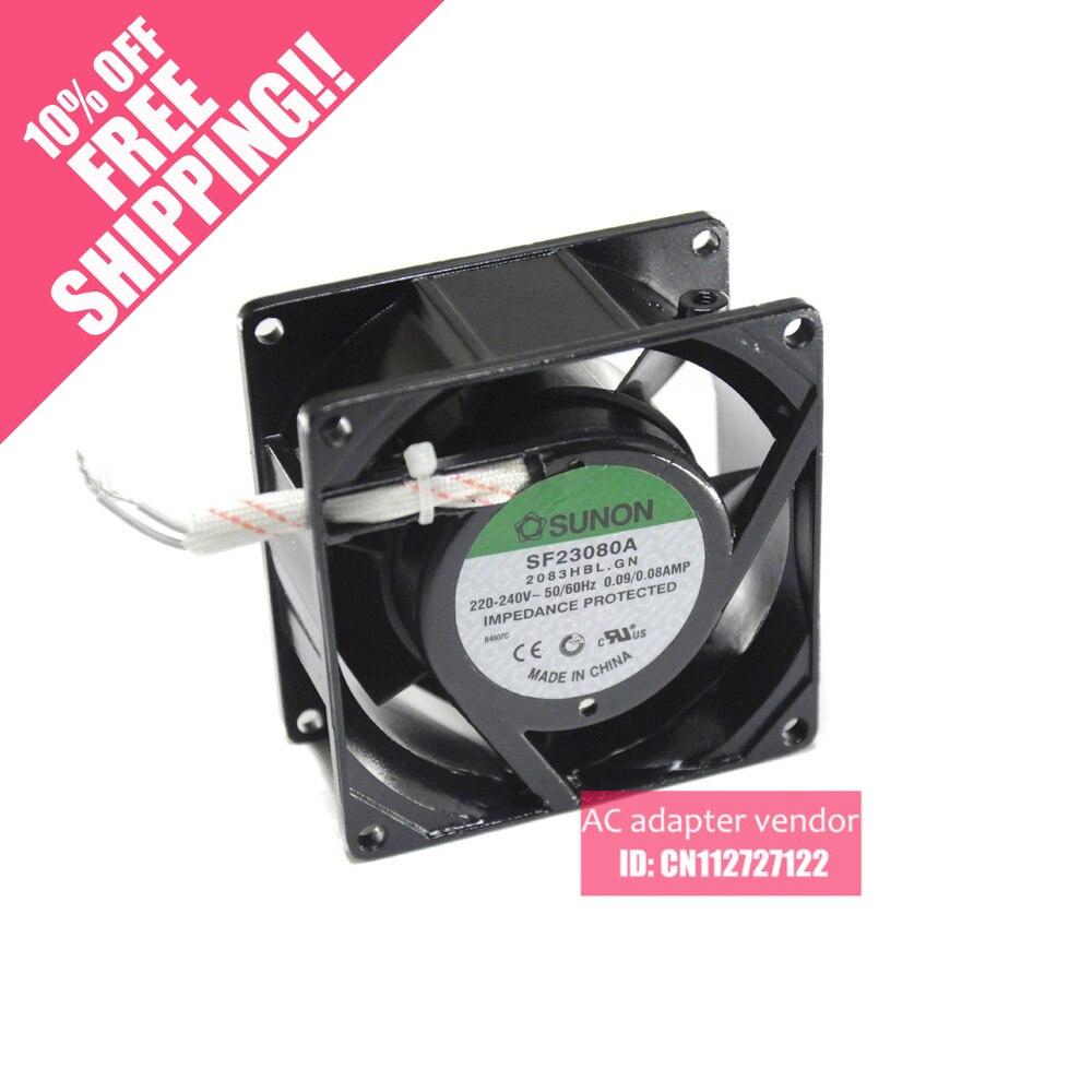 Genuine SUNON  fan SF23080A 2083HBL.GN 8038 220V 8cm fan