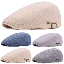 Men Women Linen Cotton Berets Hat Outdoor Travel Hats Adjustable Cabbie Caps HAT