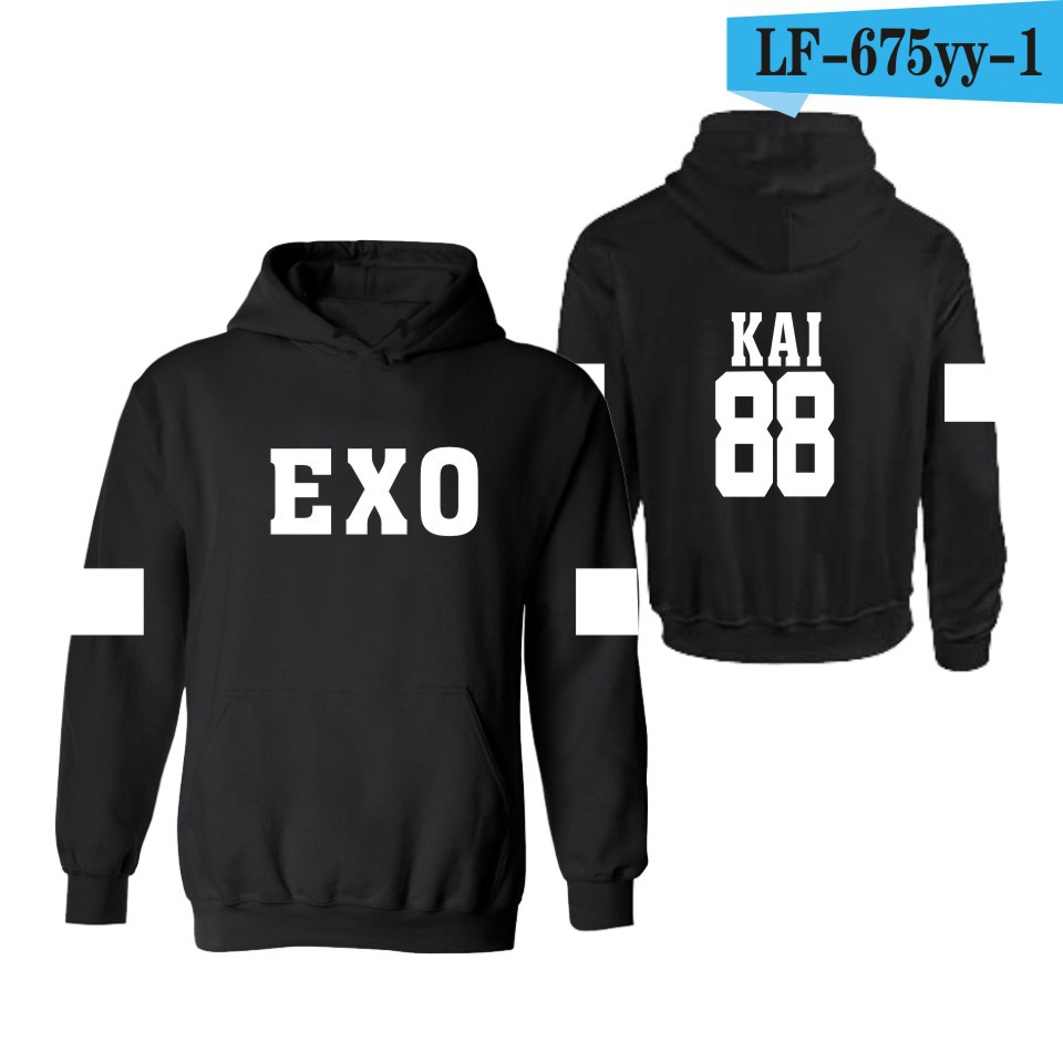 men and women EXO hoodies Hooded supremsweatshirt sweat coat streetwear trasher off white hoodie Autumn and
