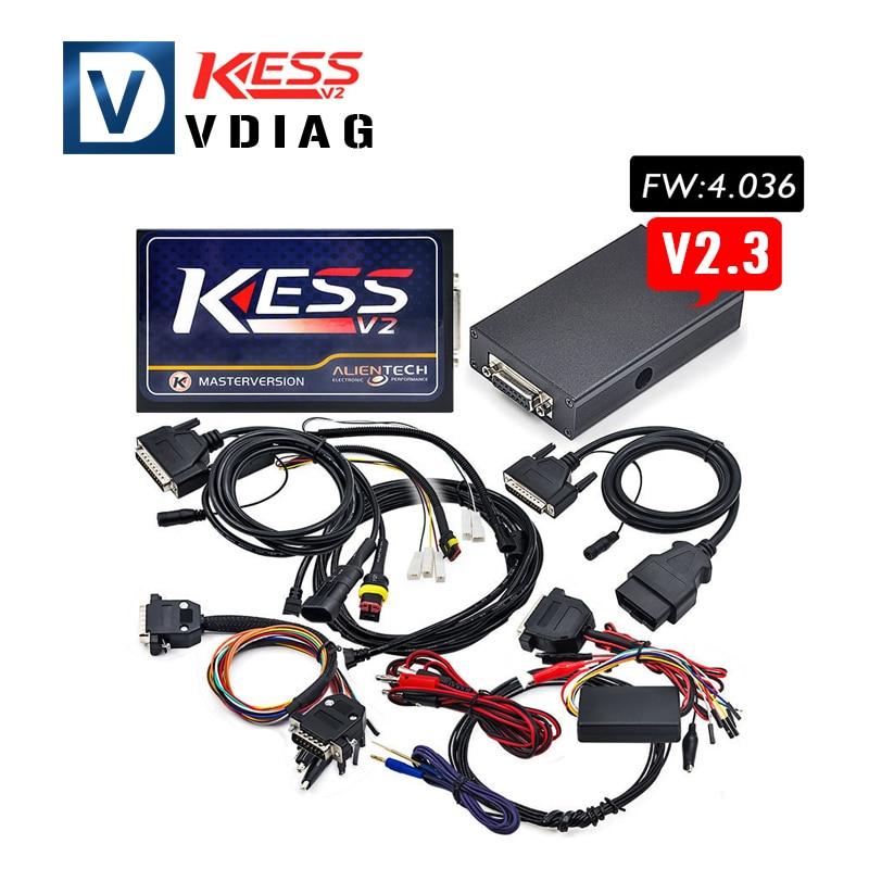 Цена за Бесплатная доставка 2016 последняя версия KESS V2 OBD2 Менеджер Тюнинг Комплект NoToken ограничение Kess V2 Мастер V2.30