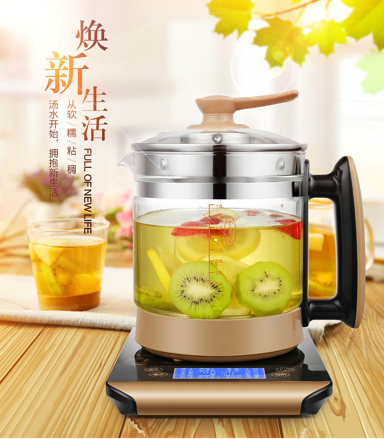 Electric kettle health pot fully automatic thickened glass multi-function electric heating flower teapot boili