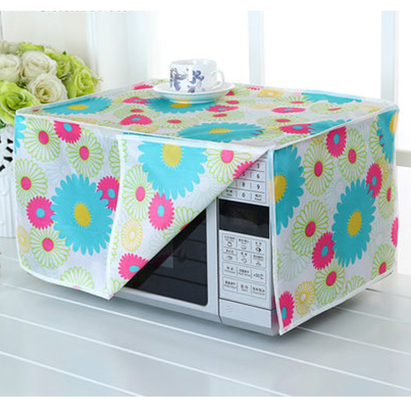 SRYSJS  Protective Covers For Microwave Oven Waterproof Dustproof Oven Cover Kitchen Home Decor Cover Cloth 1