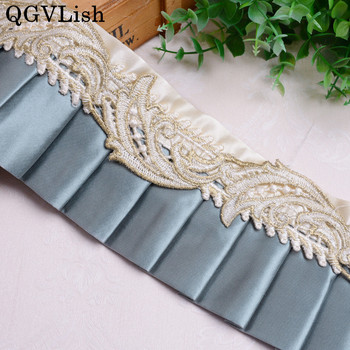 QGVLish 13M/lot Embroidery Curtain Lace Ribbon Belt Lace Trims DIY Sewing Clothing Cushion Sofa Decor Handmade Curtain Accessory