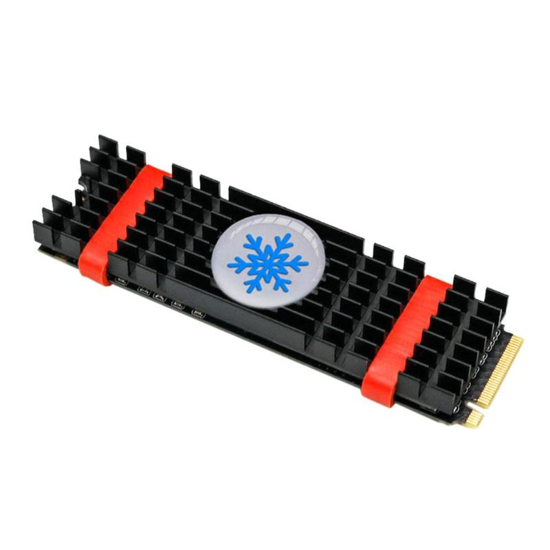 Aluminum Heatsink Radiator Extruded Heatsink For PCIe NVMe M2 2280 SSD Heat Dissipation Cooling Cooler With Silicone Thermal Pad