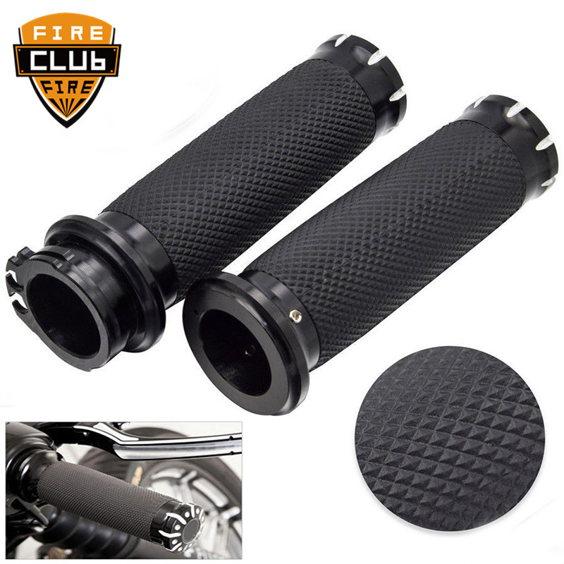For Harley Sportster 883 1200 Touring Dyna Softail  Rubber Motorcycle Handlebar Hand Grip 1'' 25mm Handle Bar Grips