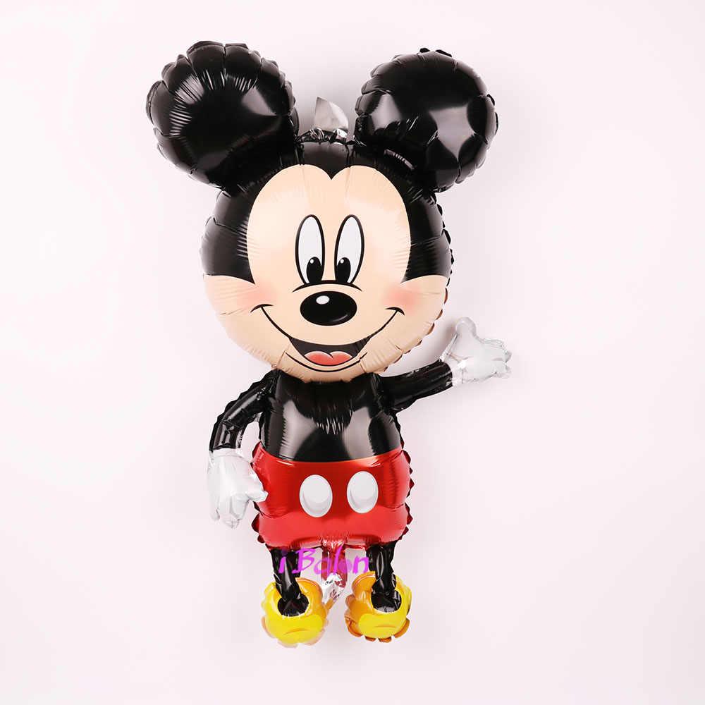 112 см гигантский Микки Минни Маус Фольга Воздушный шар Мультяшные игрушки для дня рождения украшения детский душ вечерние игрушки шарики