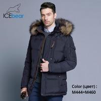ICEbear 2018 Fashion Winter New Jacket Men Warm Coat Fashion Casual Parka Medium Long Thickening Coat Men For Winter 15MD927D