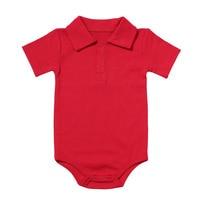 Zomer Baby Boy Meisje Rompertjes Turn-down Kraag Pasgeboren Katoen Kleding Jumpsuit Voor 0-2Y Peuters Bebe Outfits 3