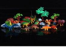 28pcs/set Plastic Animal Figures Tyrannosaurus rex Sword dragon Dome dragon Wrist dragon Kids Dinosaur Toys Set Gift For Kids