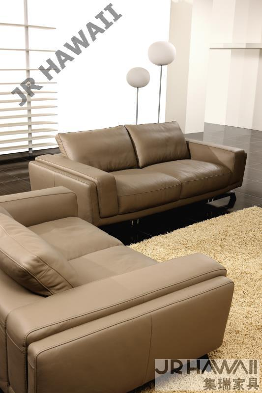 Modern Living Room Sofa 1 2 3 French Designer Genuine Leather Sofa , 1+2