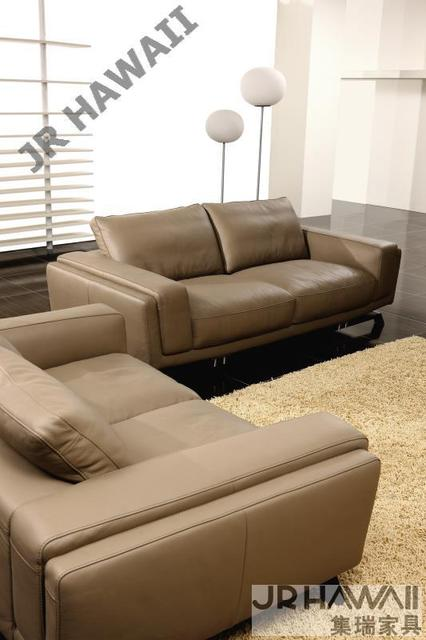 Canapé de salon moderne 1 2 3 canapé en cuir véritable design ...