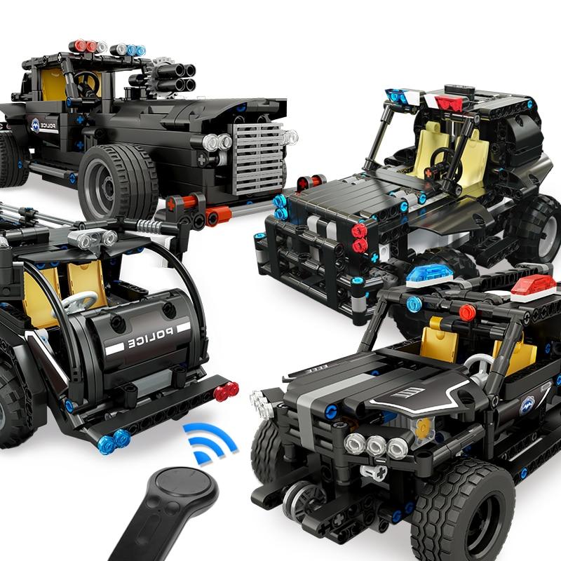 Moule roi RC Technic coffre voiture blocs de construction legoing ville Police SWAT véhicule automobile créateur briques Playmobil cadeau de noël