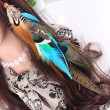 Women Feather Headband Hair Comb Clips Indian Boho Headband Headpiece Bohemian Tassel Hair Accessories Folk Hair Grips цены