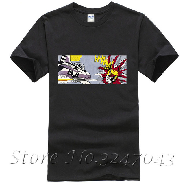 e1be628ce5 US $11.99 20% OFF|Whaam! T Shirt by Roy Lichtenstein Men's T shirt-in  T-Shirts from Men's Clothing on Aliexpress.com | Alibaba Group