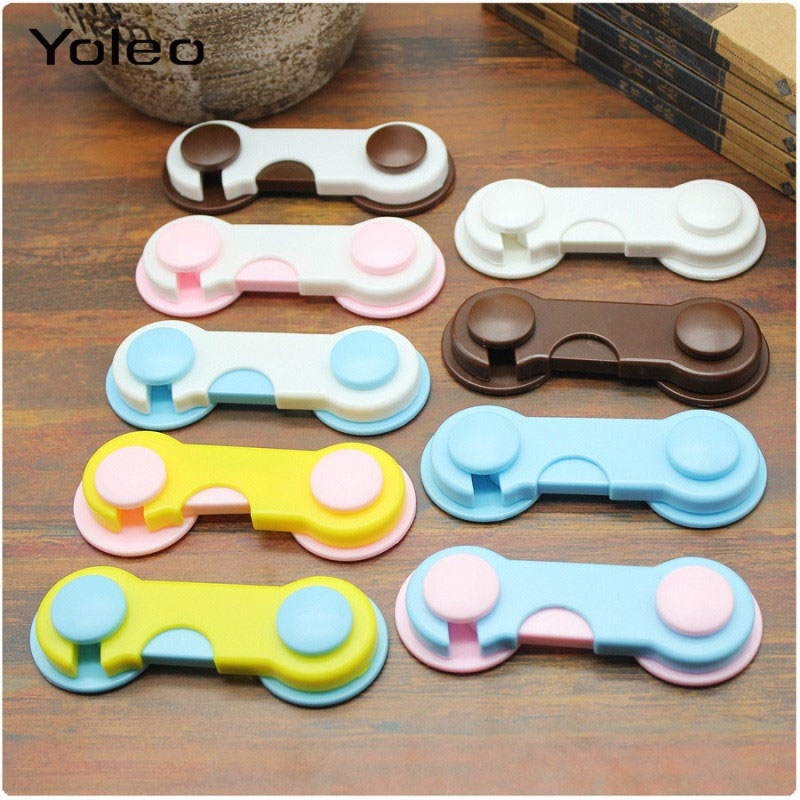 Plastic Cabinet Lock Child Safety Baby Protection Lock From Children Safe Locks For Refrigerators Baby Security Drawer Latches