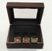 Anillos de la aleación conjuntos para 3 años Sets 1982 / 1987 / 1991 Washington Redskins Super Bowl el anillo de campeonato con cajas de madera