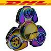 10Pcs CKF Tri Fidget Spinner Rainbow Colorful Aluminium Alloy Metal Adults Anti Stress Toy Autism ADHD