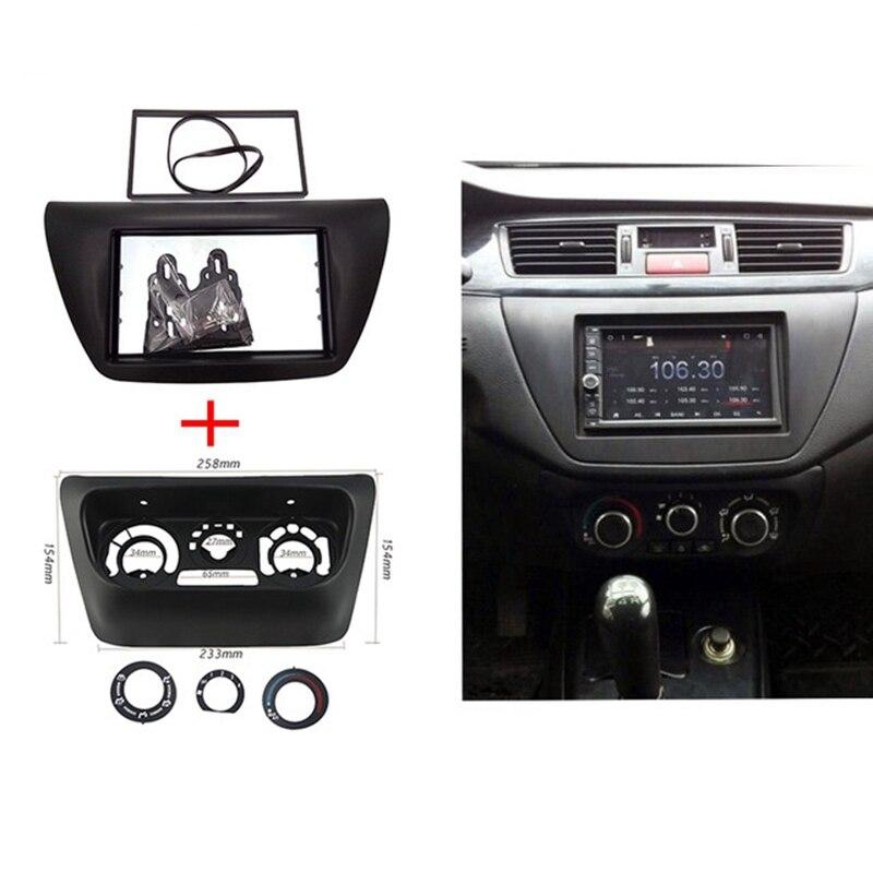 2 stücke ITYAGUY AC Control Panel + Auto Radio Fascia für Mitsubishi Lancer IX 2006 Center Control DVD Player Rahmen trim Kit