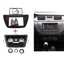 2pcs ITYAGUY AC Control Panel + Car Radio Fascia for Mitsubishi Lancer IX 2006 Center Control DVD Player Frame Trim Kit