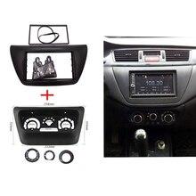2 pz ITYAGUY AC Pannello di Controllo + Autoradio Fascia per Mitsubishi Lancer IX 2006 Controllo del Centro Cornice Lettore DVD trim Kit