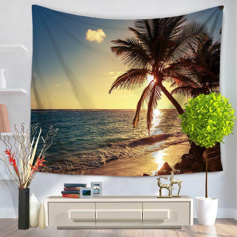 Havay Dəniz Görünüşü Qobelen Divarı Asma 3D HD Çap Qobelen Ev - Ev tekstil - Fotoqrafiya 4