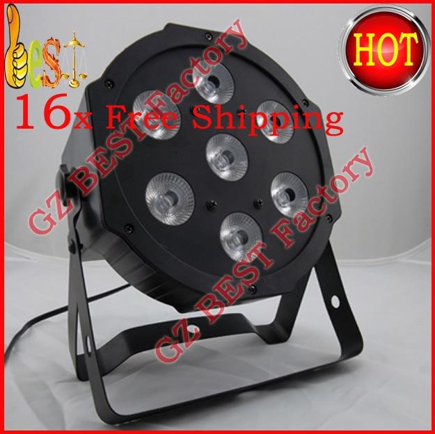 16pcs/lot Fast Shipping Good Quality Hot-sale LED Flat Slim Par Light Tri-RGB 7pcsx 9W 7 DMX Channels 200pcs lot bc182 bc 182 good quality hot