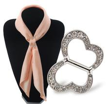 Hot Scarf Deduction Butterfly Diamonds Scarf Deduction Button Deduction Metal Charm Temperament Accessories Gifts Metal Buckle