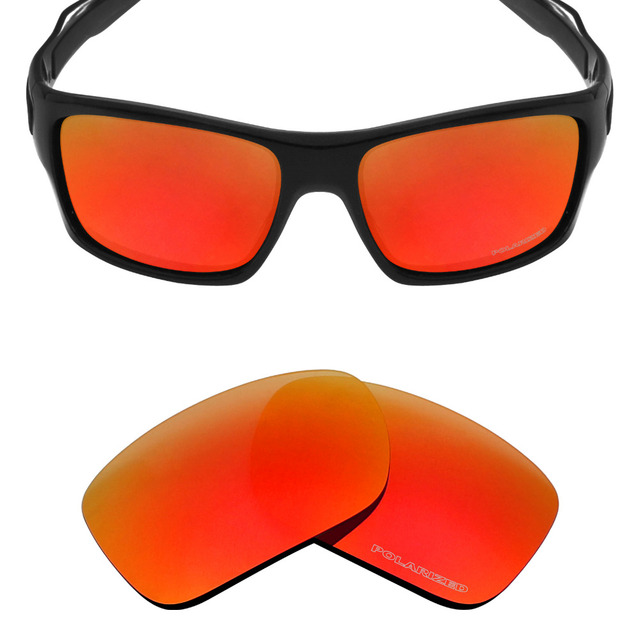 d1506944eb Mryok+ POLARIZED Resist SeaWater Replacement Lenses for Oakley Turbine Sunglasses  Fire Red