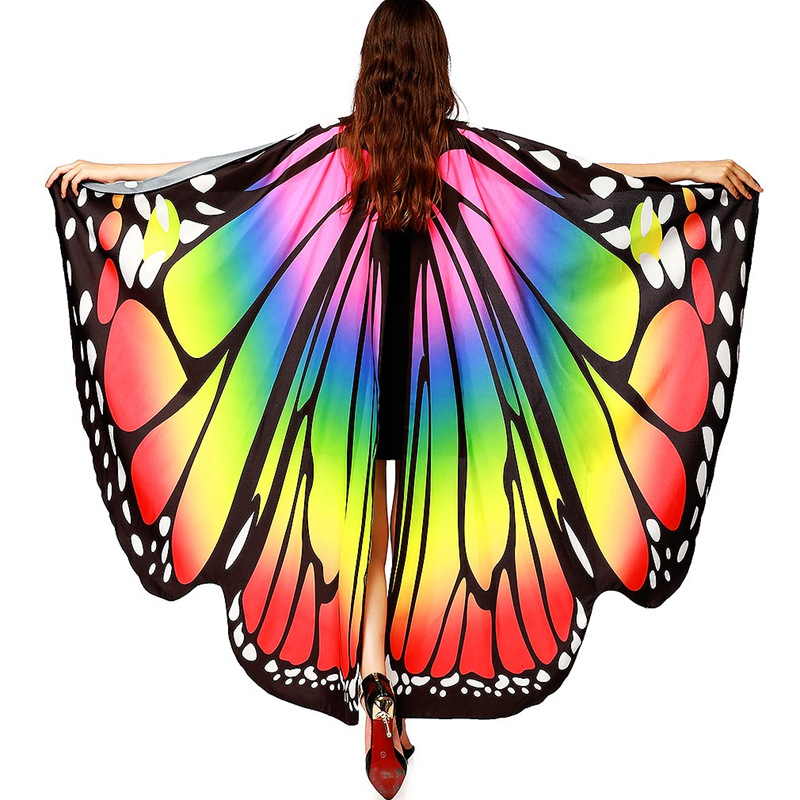 New Design Women Beach Long Butterfly Wing Cape Soft   Scarf     Scarves     Wrap   Shawl Nymph Costume Butterfly Wings Shawl