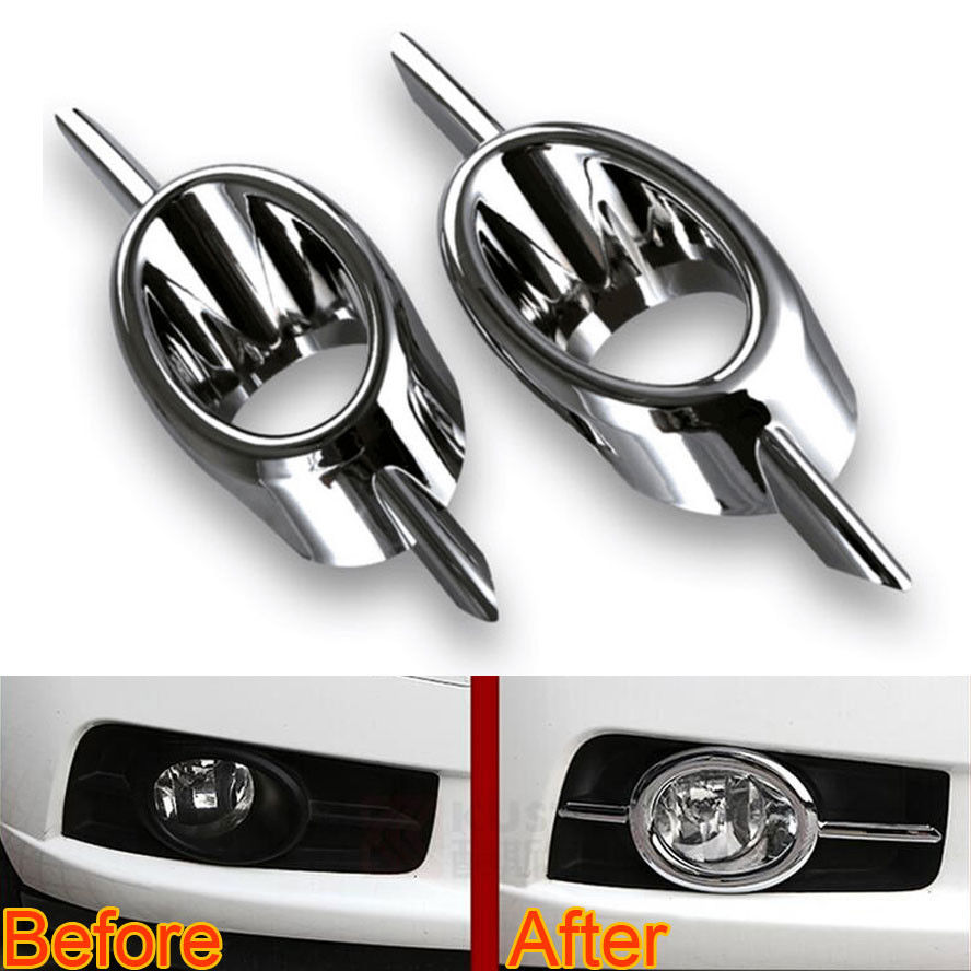 2x Chrome ABS Car Front Fog Light Cover Fog Lamp Protect Frame Trim Bezel Sticker Fit For Chevrolet Cruze 2009-2011 Car Styling стоимость