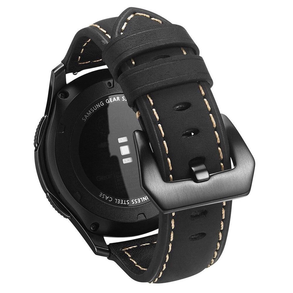 Para Samsung Gear S3 Frontier/Classic banda de cuero genuino reloj 22mm Universal Quick Release pasadores correas de reemplazo