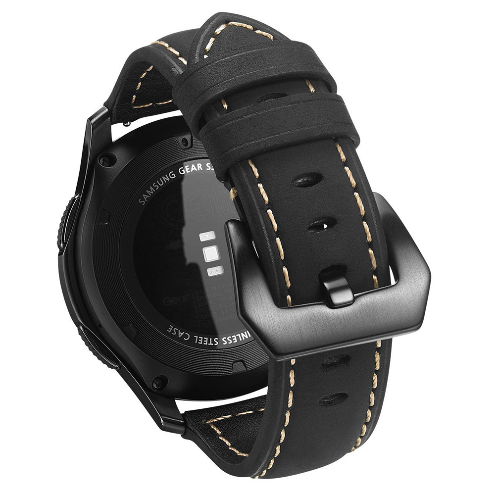 Pour Samsung Vitesse S3 Frontière/Classique Montre en cuir Véritable Bande 22mm Universal Quick Release Printemps Pins Courroies De Rechange
