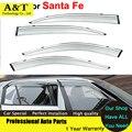 car styling Window Visors For Hyundai Santa Fe ix45 2014 2015 Sun Rain Rain Shield Stickers Covers Car Styling Awnings Shelters