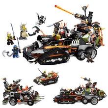 91005 Dieselnaut ниндзя Военная игрушка здания Конструкторы Playset боевой танк цифры охотился Модель автомобиля игрушки Совместимые с подарками Legoings