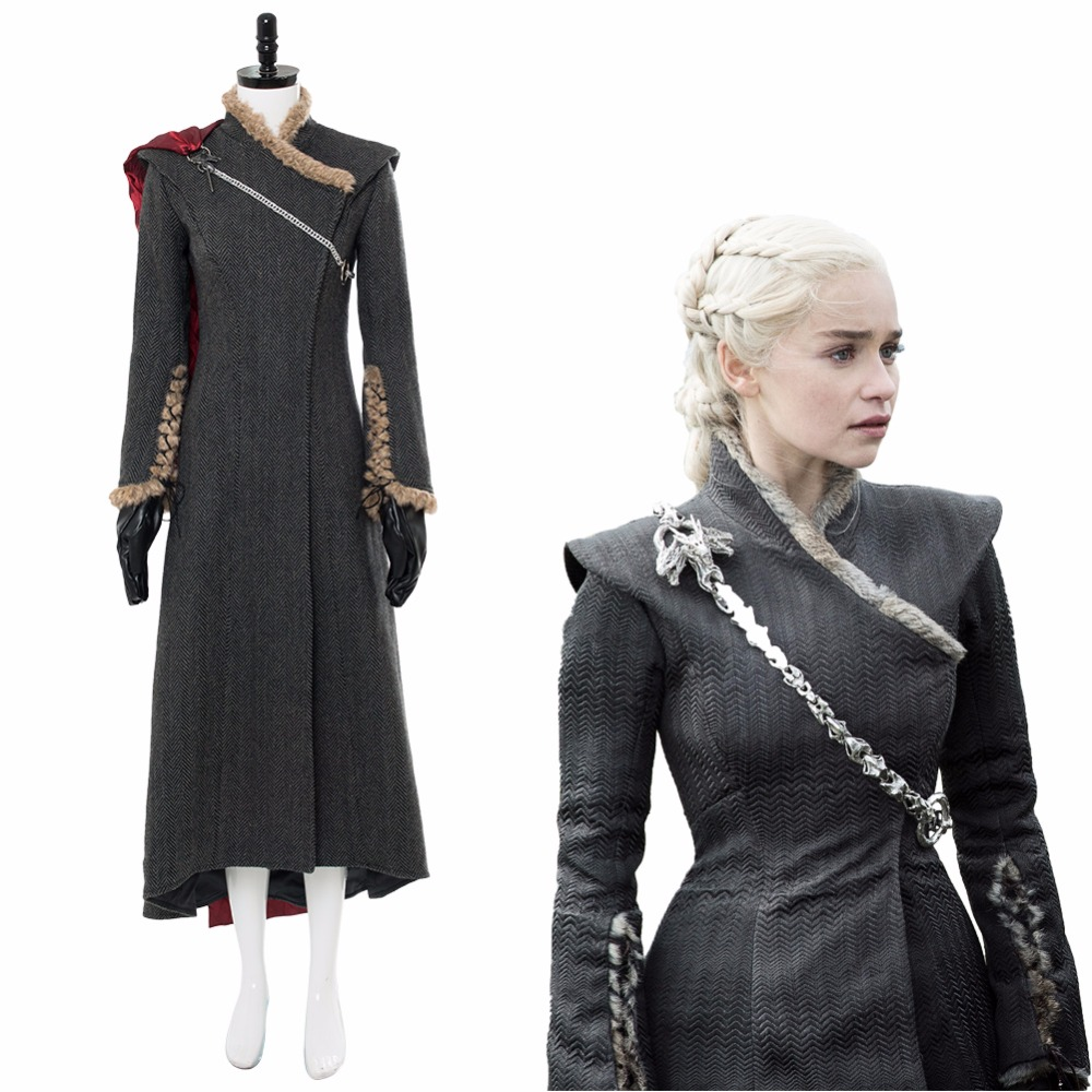 GOT Daenerys Targaryen Dany Cosplay Costume Game of Thrones Season 7 Gown Dress Mother of Dragon Costume Dress Outfit