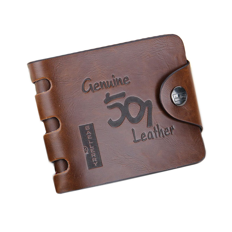 Free shipping 20pcs lot 2019 new stylish Mens Wallet Mens coin purse Genuine leather brown color