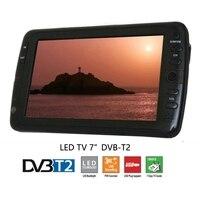 Televisions 7inch Portable LED TV DVB T MPEG4 H 264 Digital High Resolution AV Monitor Support