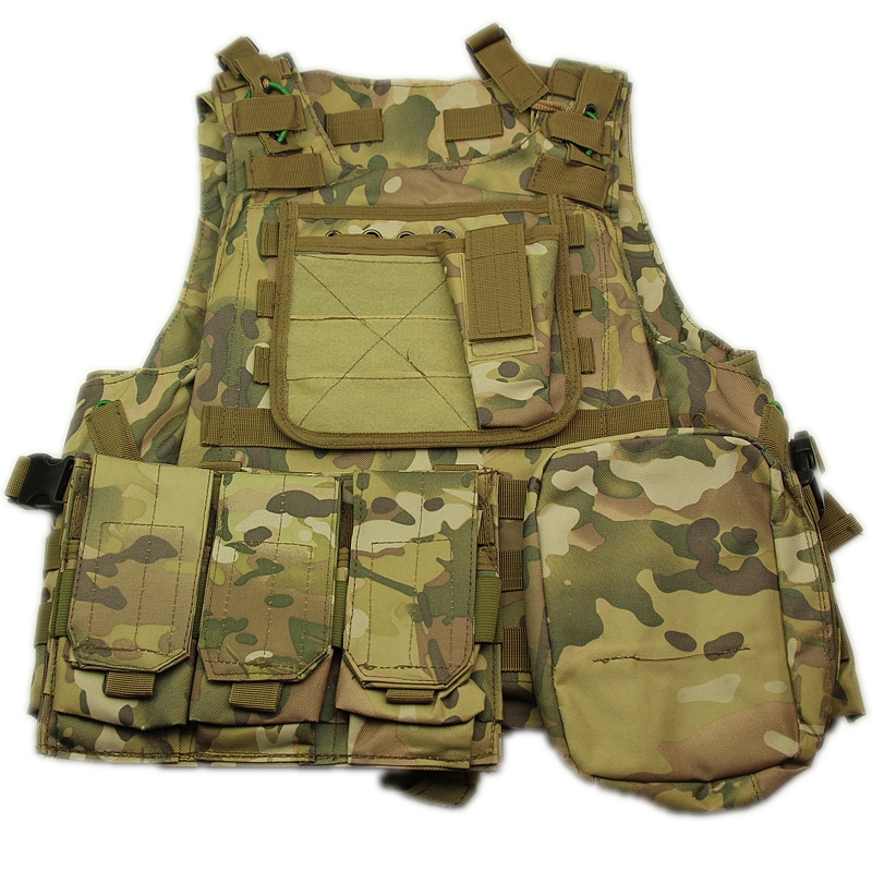 Multicam Camouflage Army Military Tactical Vest Adjustable Outdoor Hunting Activity War Games Airsoft Hunting Outdoor Vest