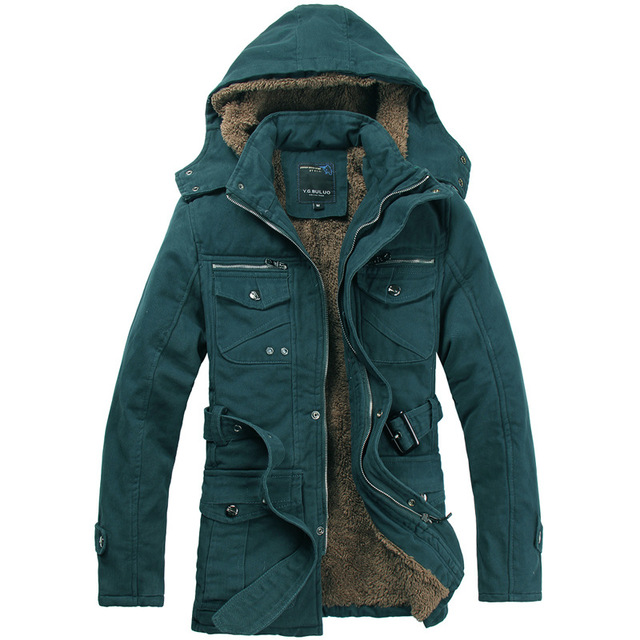 2016 Winter Men's Jacket Hooded Jacket Thick Warm Coat Male Fur Cotton Outerwear Multi-pocket Military Jacket Jaqueta Masculina