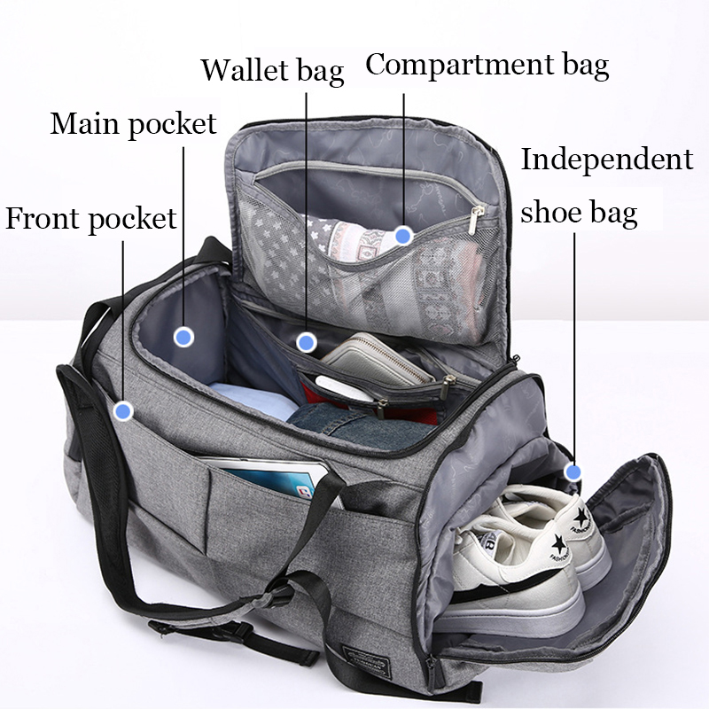 35L Fitness Gym Bags Outdoor Camping Backpack Sport Training Travel Men Woman Durable Multifunction Handbag Laptop Shoulder Bag (8)