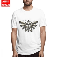 The legend of zelda T SHIRT Male Triforce Stone Tee Shirt Unique Design T-Shirt Cotton Free Shipping Birthday Gift