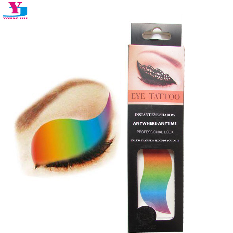 Multicolor Rainbow Water Transfer Eye Shadow Stickers 2pairs/box Temporary Tattoo Sex Prod