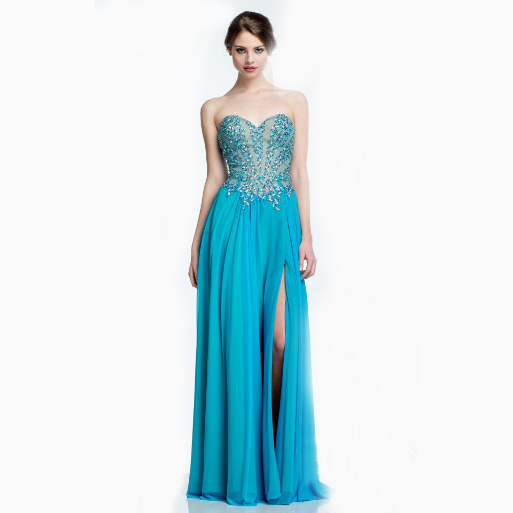 Popular Turquoise Sequin Prom Dress-Buy Cheap Turquoise Sequin ...
