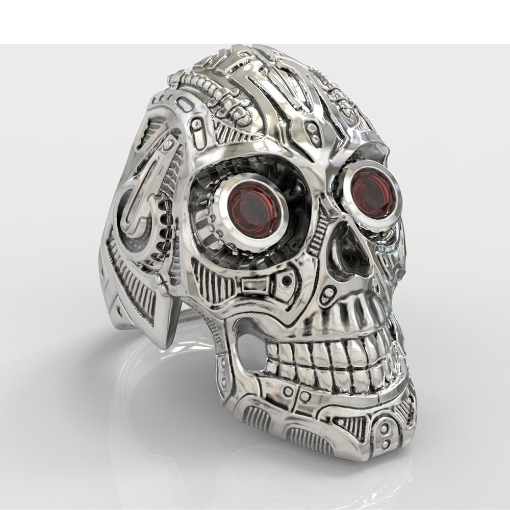 30f23638bde Stainless Steel Robot Ring Steam Punk Style Skull Rings for Men-in Rings  from Jewelry   Accessories on Aliexpress.com