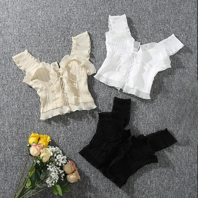 Summer Autumn Bustier White Black   Tank     Top   Female Sexy Bandage Sleeveless Crop   Top   Zipper Woman Clothes