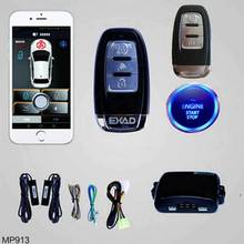 For Peugeot 307 Auto APP Phone Car Alarm Security System Remote Central Locking IOS/Android Car Engine PKE Start Stop Button high security pke car alarm kit remote engine start auto central locking push button start stop and touch password entry