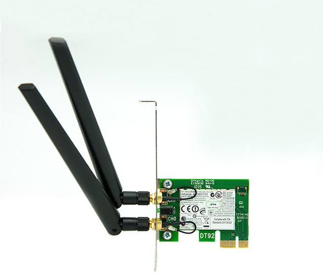300 M de Banda Dupla 2.4/5G Cartão AR9280 AR5BDT92 Sem Fio Wi-fi PCIe X1 Para Win Mac os