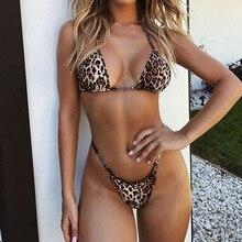 Women Leopard Bikini Set Swimming Two Piece Swimsuits Swimwear Beach Suit bathing suit women high waist